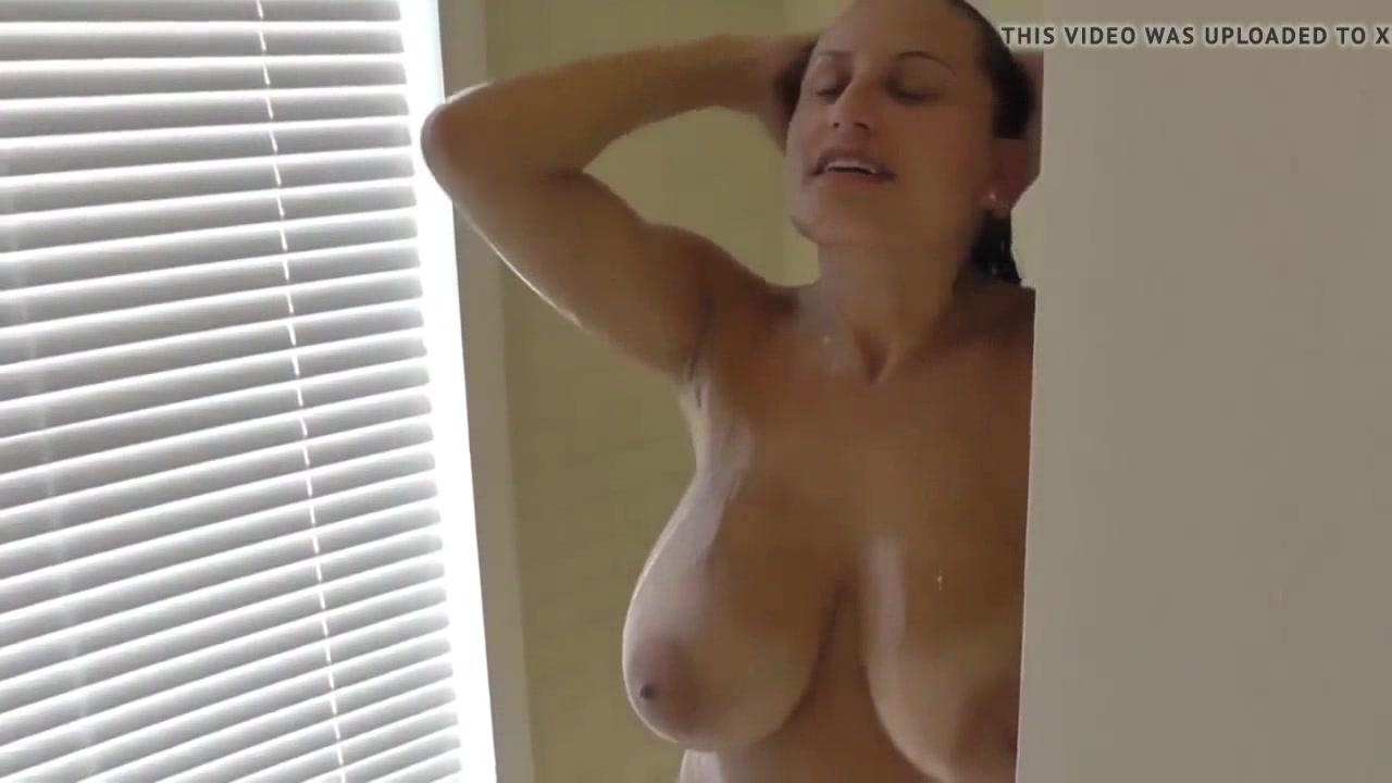 busty hairy dildo masturbation